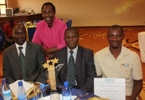 Mr Basil Ajer (left) poses for a picture with the Winning Team Representatives
